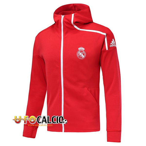 Giacca a vento Real Madrid Rosso 2018 2019