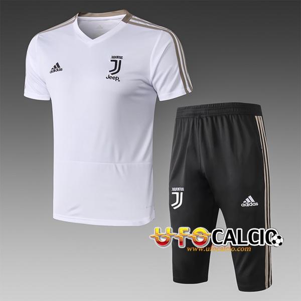 Nuova Pre partita T Shirt Allenamento Juventus + Pantaloni 3