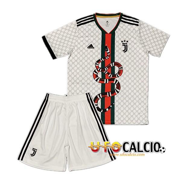 ed7a622fc Kit Maglia Calcio Juventus Pitone Bianco 2019 2020