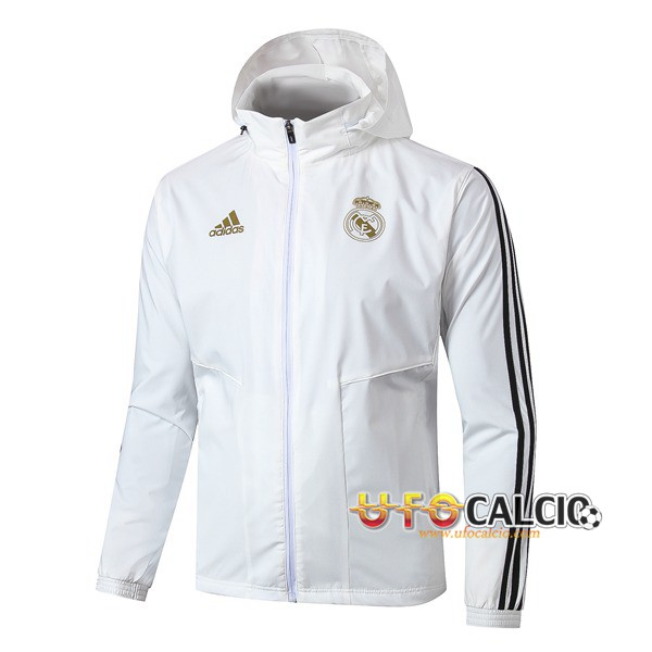 Giacca A Vento Real Madrid Bianco 2019 2020