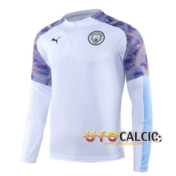Felpa da training Manchester City Bianco Porpora 2019 2020