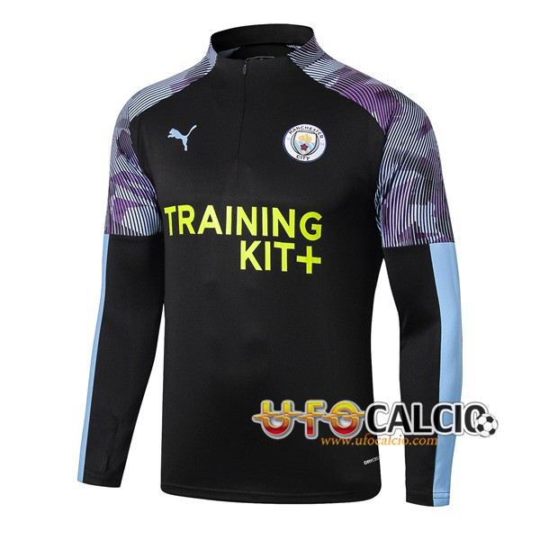 Felpa da training Manchester City Blu Nero 2019 2020