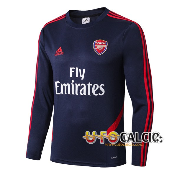 Felpa da training Arsenal Colletto Tondo Blu Scuro 2019 2020