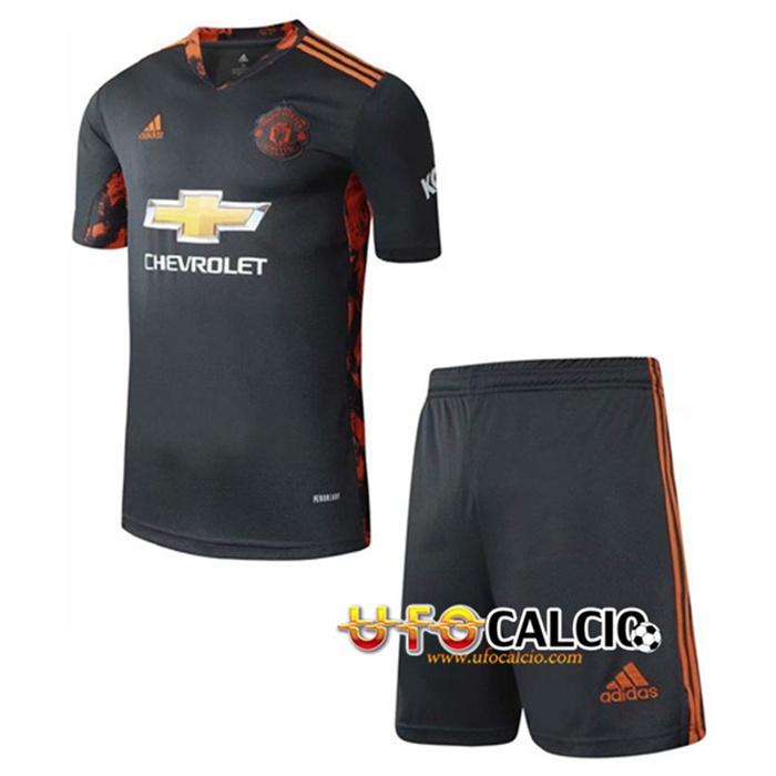 nuove maglia calcio manchester united bambino portiere 2020 2021 nuove maglia calcio manchester united