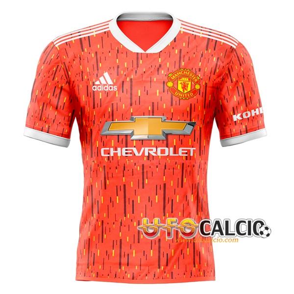 nuova maglia calcio manchester united prima versione trapelata 2020 2021 nuova maglia calcio manchester united