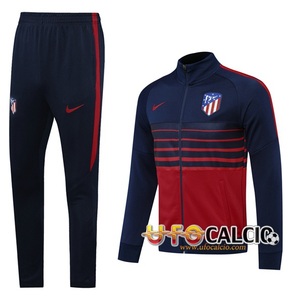 Tuta Calcio Atletico Madrid Blu Royal 2020 2021 (Giacca + Pantaloni)