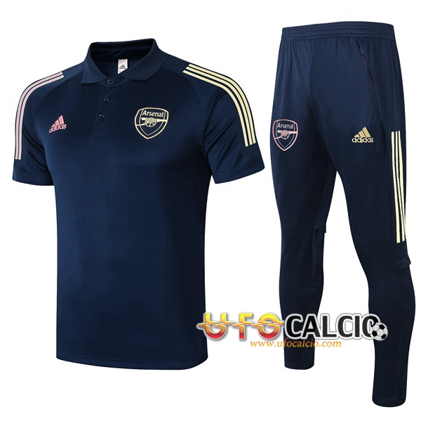 Kit Maglia Polo Arsenal + Pantaloni Blu Royal 2020 2021